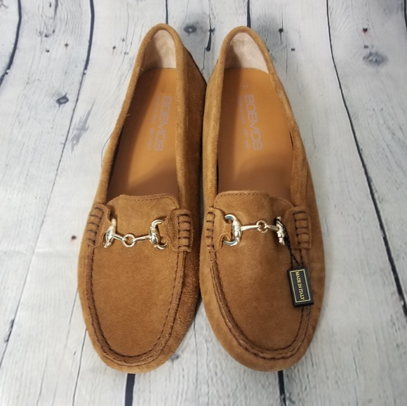 e9224a5aa2e NWT Boemos Womens Tan Suede Slip On Loafers